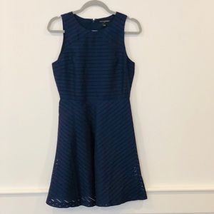 Banana Republic fit and flare navy blue dress